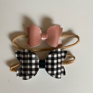 Other - Set of 2 Nylon Headband Bows | Never been worn.